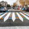 Българин превърна зебрите в Мадрид в изкуство