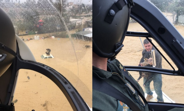 Зашеметяващи снимки от въздуха показват напълно наводнената Малага