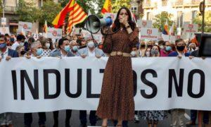 Десетки хиляди испанци протестираха в Мадрид срещу плановете на правителството да амнистира дванайсет каталунски политици